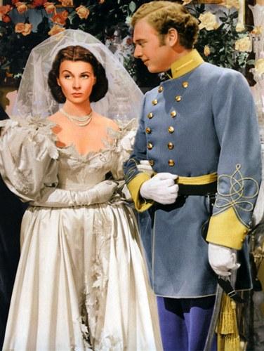 Robd de mariée dans Autant en emporte le vent