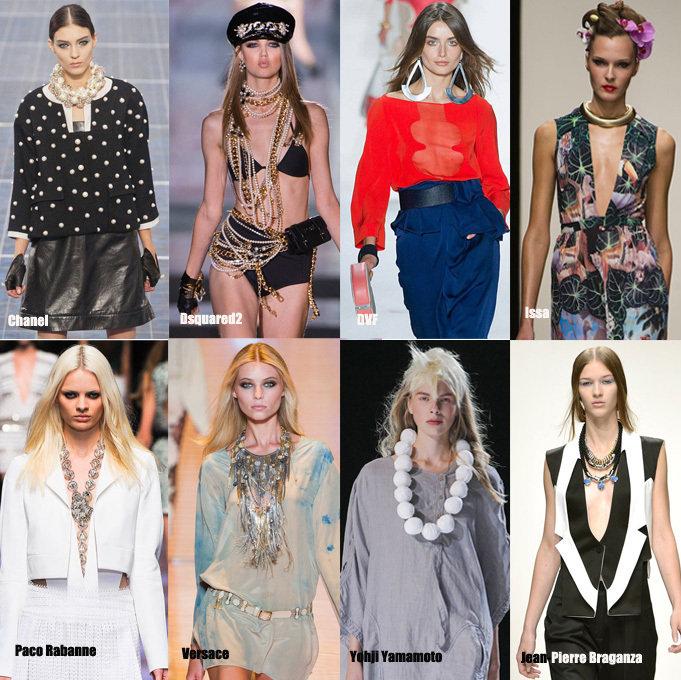 Les accessoires grande marques comme Chanel, Paco Rabanne, Versace, Jean Pierre Braganza pour les défilé 2013