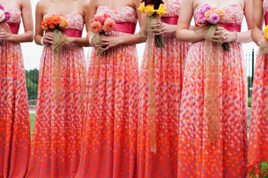robes de demoiselle d'honneur multicolore