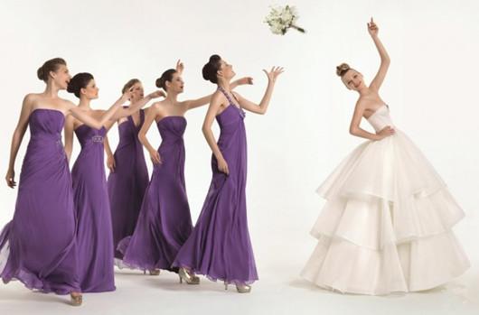 robes de demoiselle d'honneur violettes