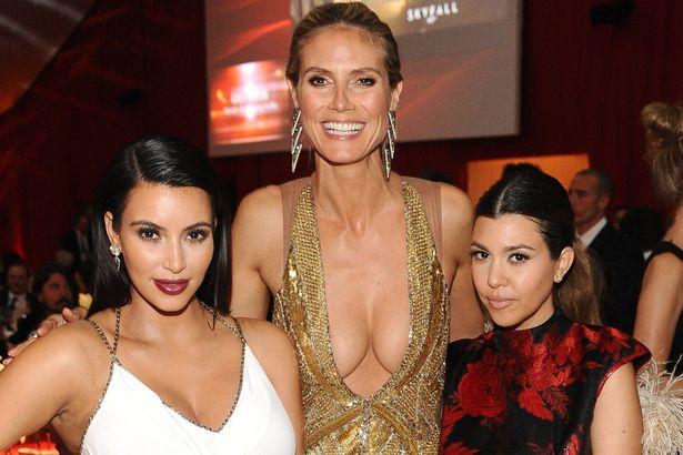 Kim Kardashian et Nicki Minaj à côté de Klum dans Oscar 2013