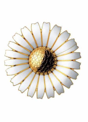 Broche de Georg Jensen forme marguerite en or émaillé