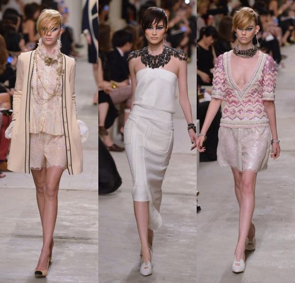 Robes courtes signes Chanel de sa Collection Printemps 2014