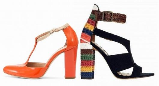 Tendance 2013 - Chaussures à talons carrés - Escarpins Sandales