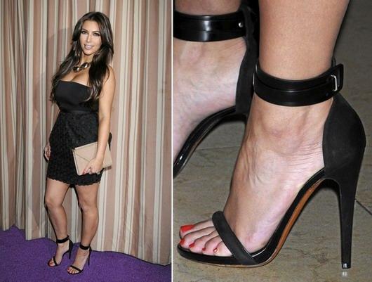 Tendance 2013 - Kim Kardashian - Sandales à brides