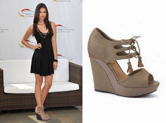 Tendance 2013 - Nina Dobrev - Sandales compenses