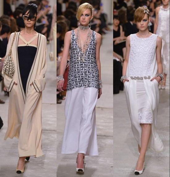 Sélection décontractée très fluide de Collection Printemps 2014 de Chanel