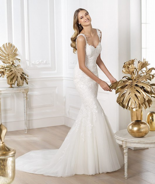 Robe de mariée sirène aux manchettes