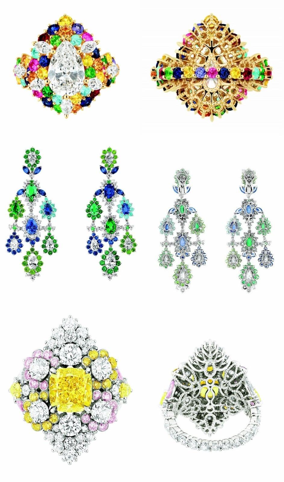 le front et le dos des bijoux dans la collection de haute joaillerie de Dior Cher Dior