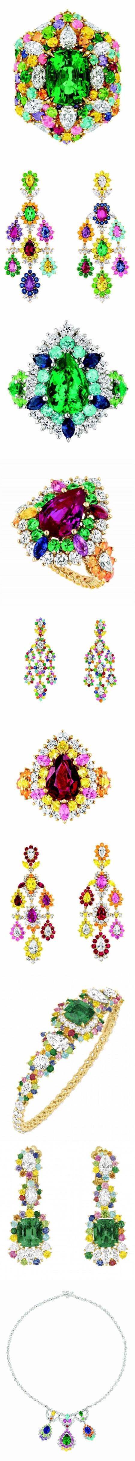 les bagues, boucles d'oreilles, colliers dans la collection de haute joaillerie, Cher Dior