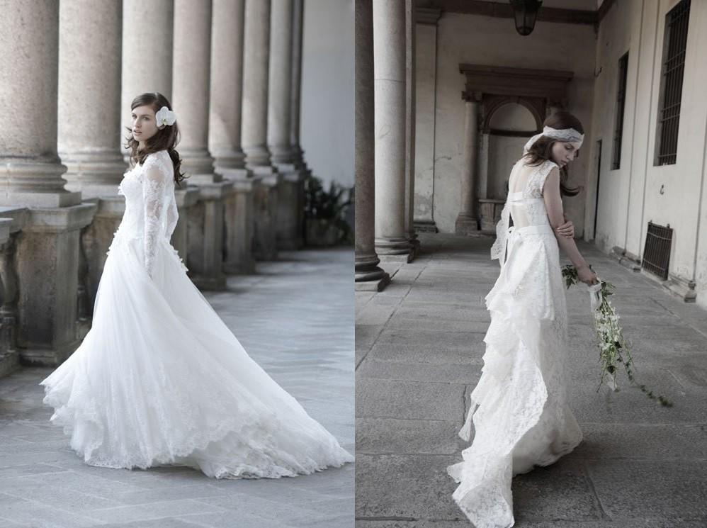 robes de mariée dentelles de Alberta Ferretti dans la collection haute couture 2014