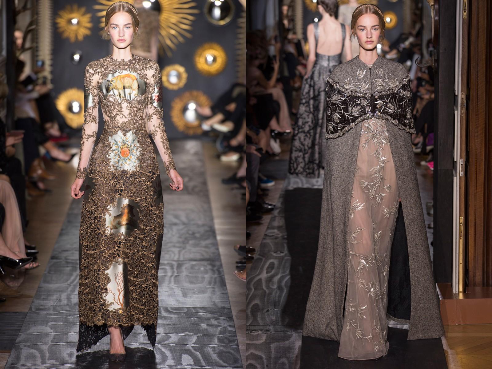 robes longues féerique dentelle dans la collection automne 2013 de Valentino