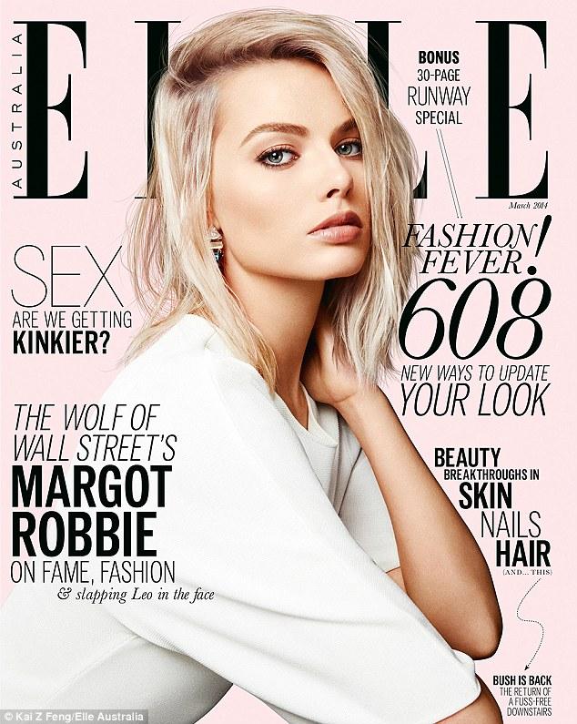 Margot fait la couverture du magazine ELLE australien du mois de mars 2014