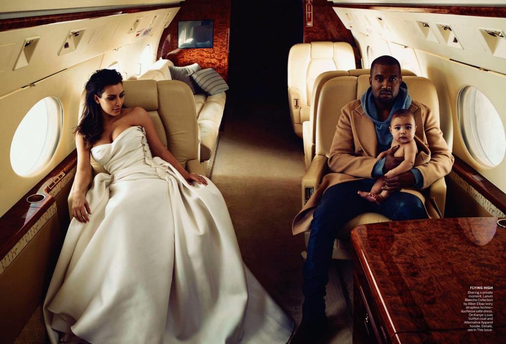 Kim Kardashian et Kanye West pour Vogue