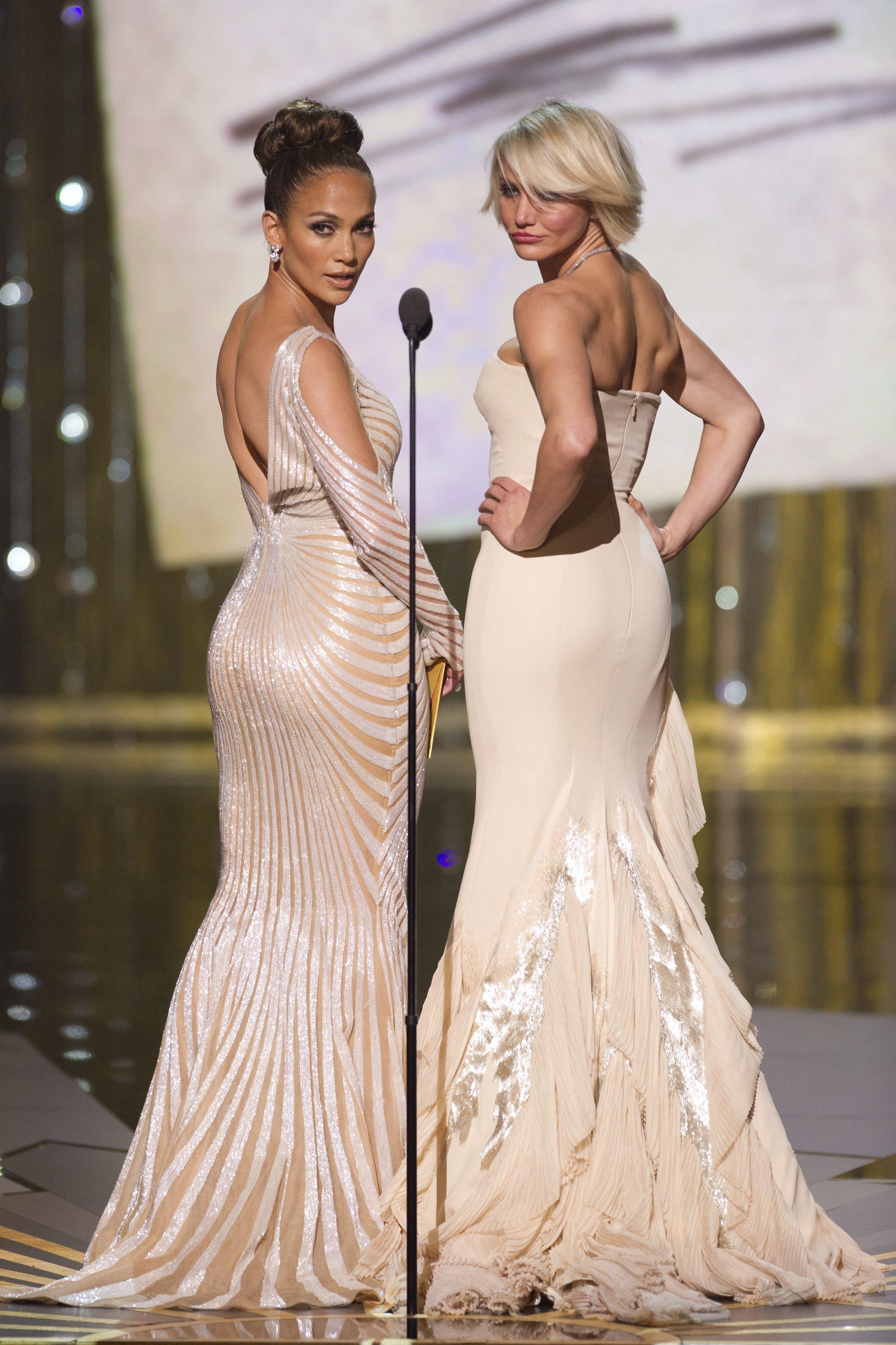 Jennifer Loper et Cameron Diaz aux Oscars 2012