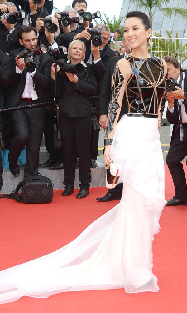 Zhang ziyi a fait sensation avec sa robe bicolore signée Stéphane Rolland