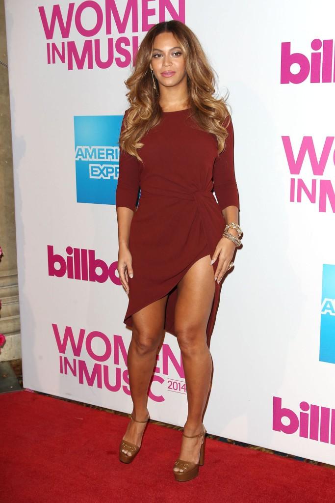 Beyoncé était sexy en robe de soirée courte