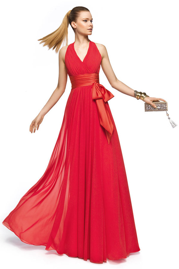 Robe de soiree rouge discount