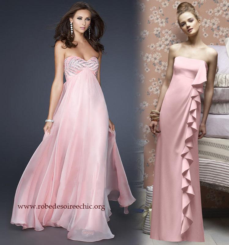 robe soirée rose enceinte