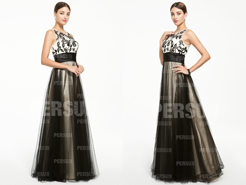 robe-soiree-broderie-longue-elegant-noir