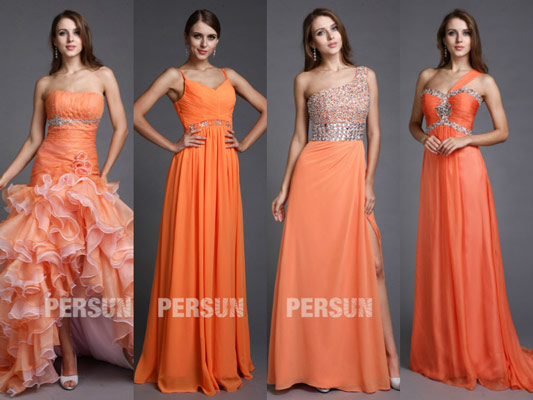 robe-orange-chic-pour-soiree