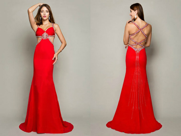 robe-de-soiree-rouge-decollete-brodee