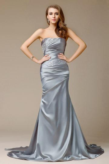 robe-de-soiree-sirene-bustier-grise