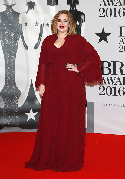 Adele attends the BRIT Awards 2016