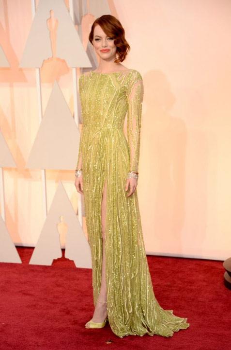 Emma-Stone-robe-de-soiree-verte