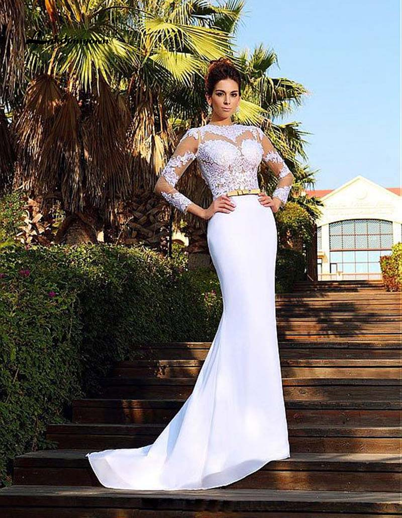 robe de soirée sirène blanche