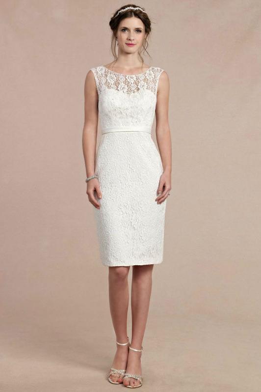 robe de soirée courte blanche