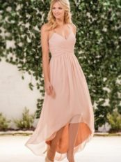 Robe bascule couleur nude pour témoins de mariage