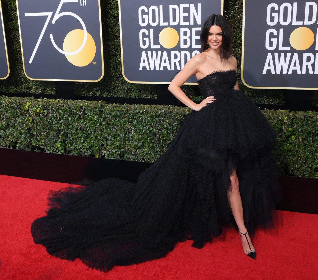 robe de soirée noire de Mandatory Credit 75th Annual Golden Globe Awards