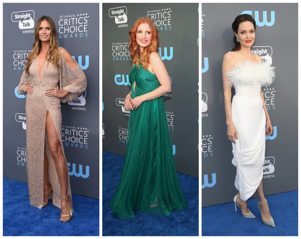 Heidi Klum, Jessica Chastain et Angelina Jolie aux Critics' Choice Awards 2018
