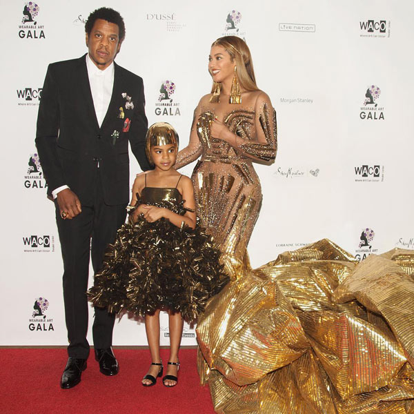 Beyonce et Blue Ivy sur le red carpet du Wearable art gala