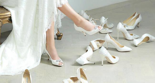 chaussures de mariage ivoire perlé