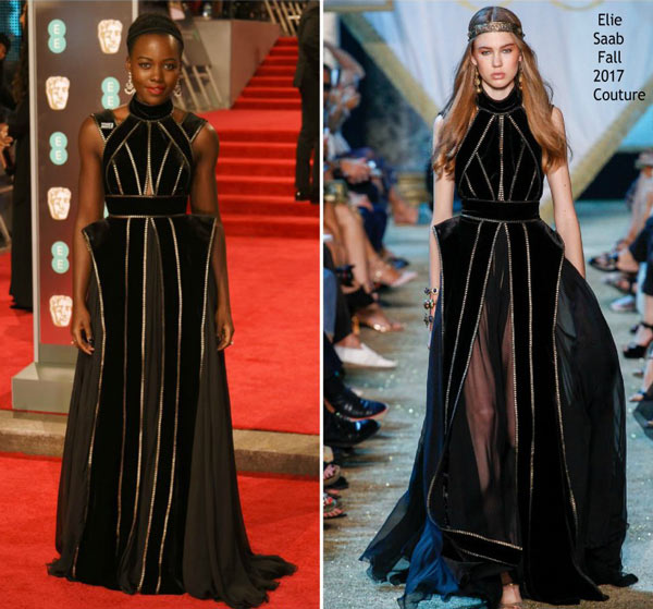 Lupita Nyong'o en robe Elie Saab aux Bafta 2018