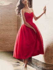 robe de mariée bustier coeur mi longue en tulle