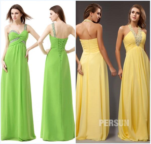 Longues robes de soirée orné de strass