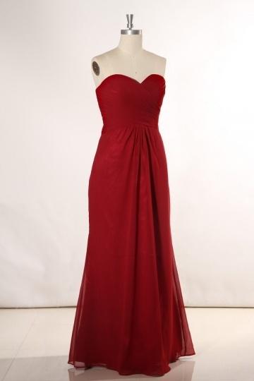 robe de soirée rouge longue et bustier cœur