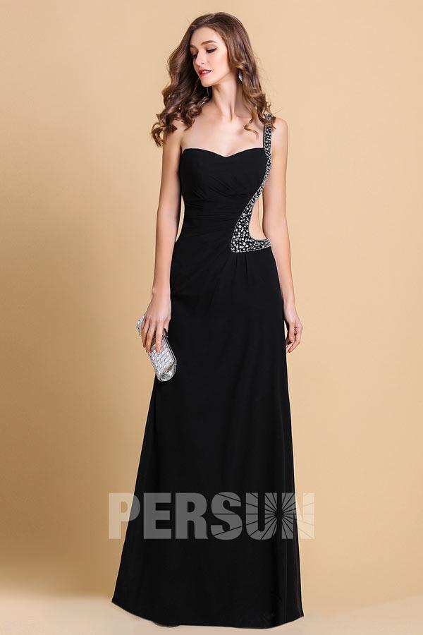 sexy robe de soiree noire découpé bustier cœur