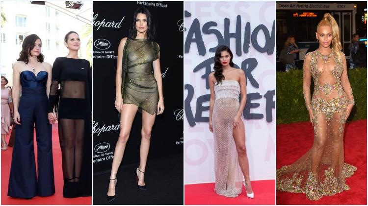 Marion Cotillard, Kendall Jenner, Sara Sampaio et Beyoncé en robes sexy transparentes