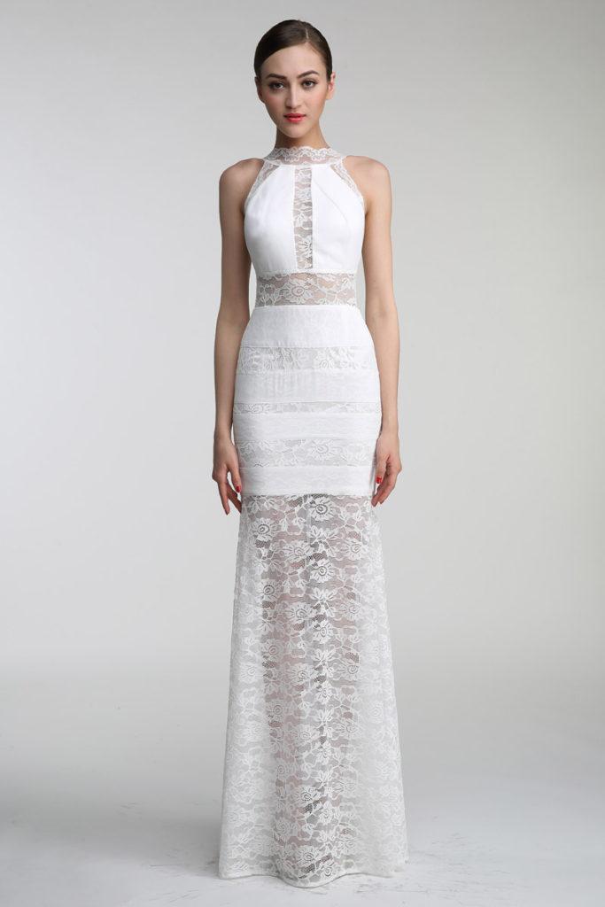 robe de soirée blanche jeu transparent
