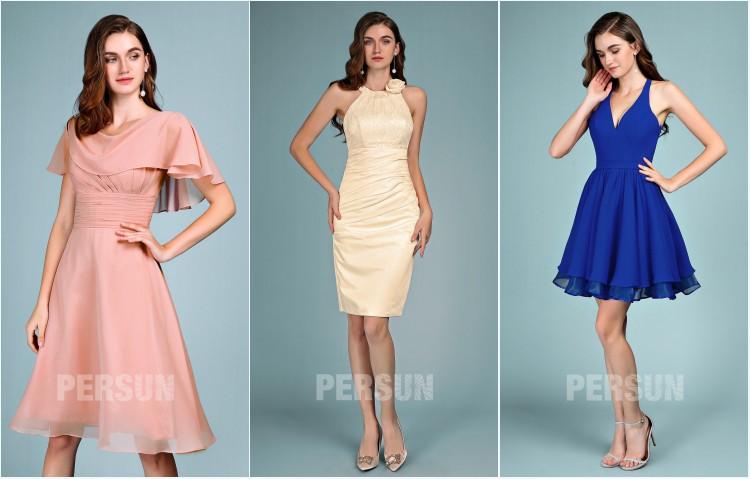 Robe de soirée courte – Style chic pour femme