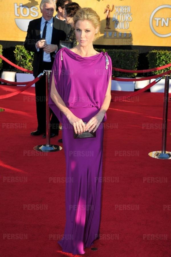 robe de star Julie Bowen col drapé dos ouvert