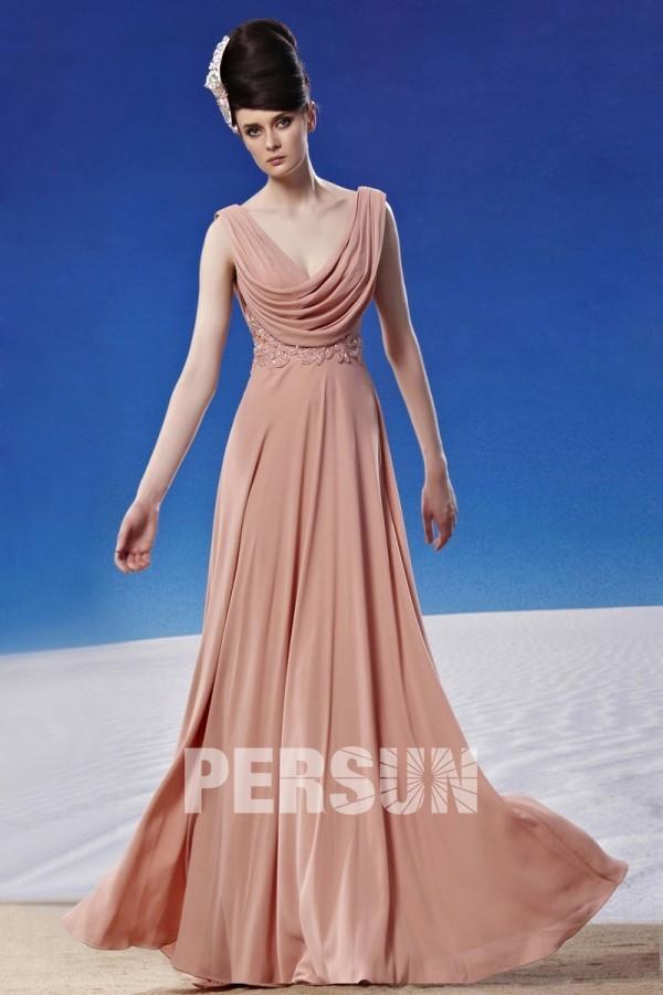 robe de soirée col bénitier dos ouvert
