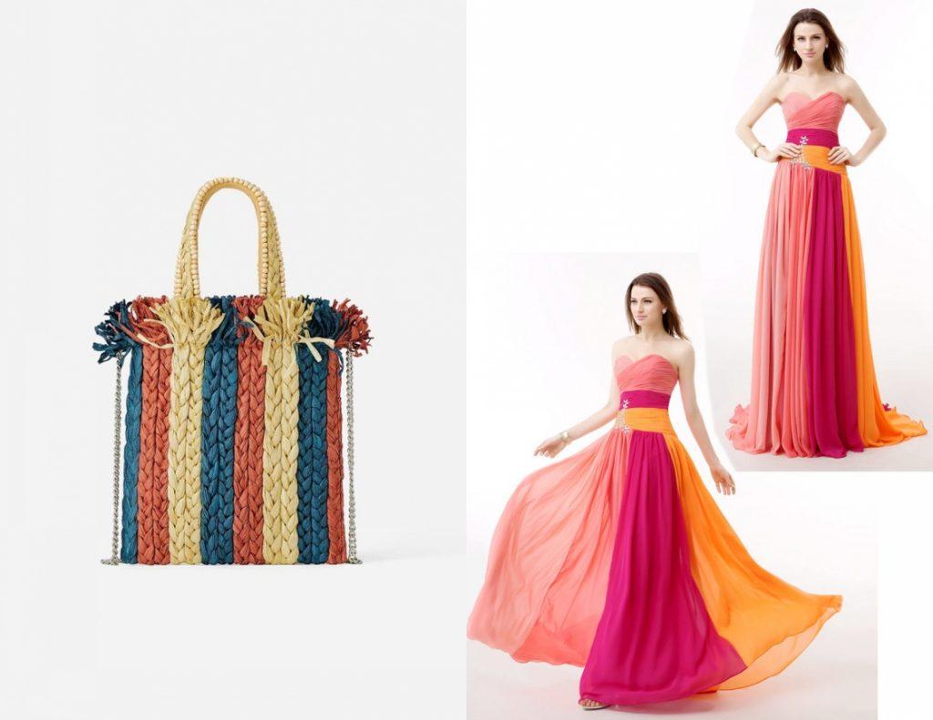 robe de soirée longue bustier coeur colorée bustier coeur plissé