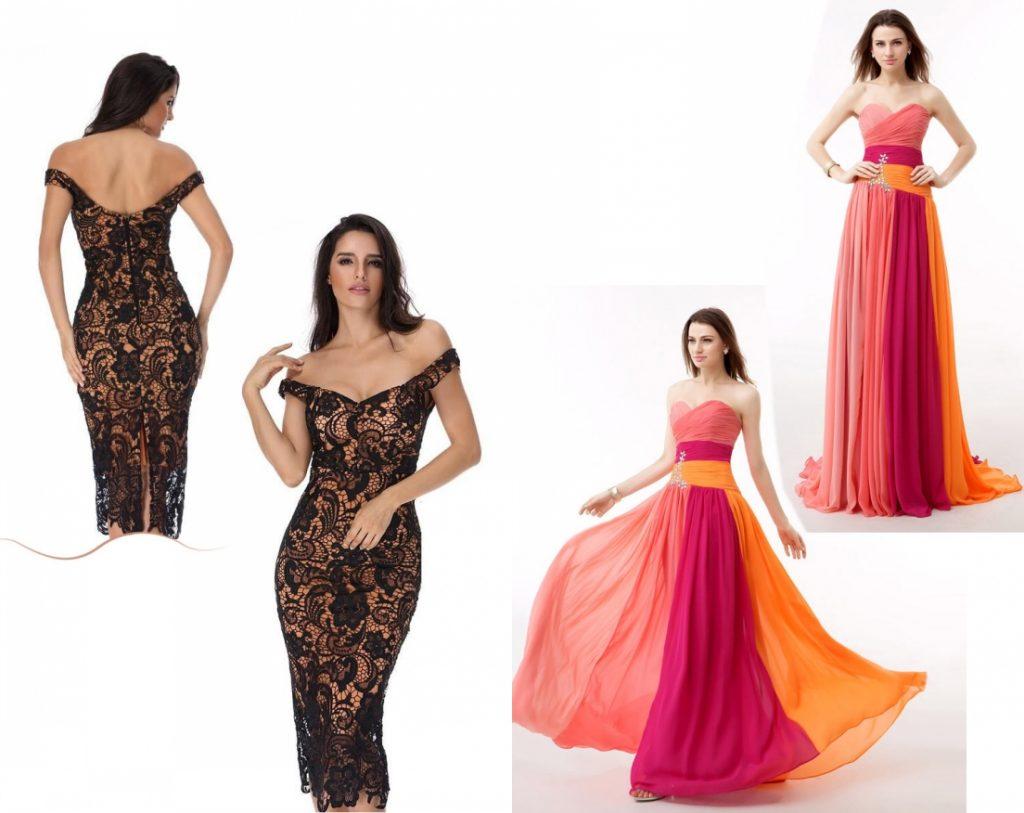 modèle forme corps poire robe de soirée