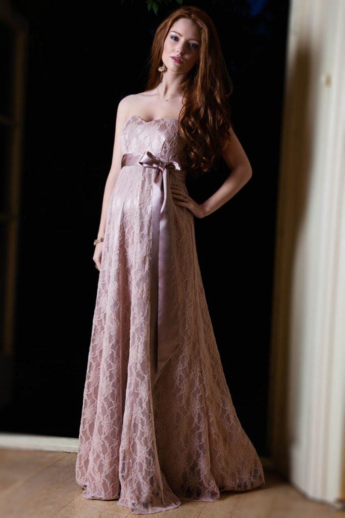 robe de soirée longue violette bustier coeur en dentelle avec ceinture