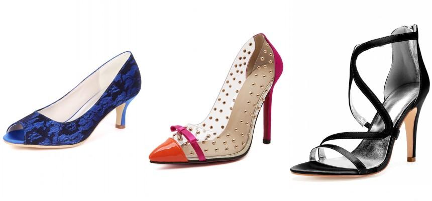 chaussure à talon moderne de robe de soirée